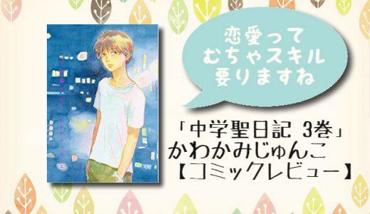 キスだけの夜から2年。元生徒×元担任の恋「中学聖日記 3巻」【コミックレビュー】